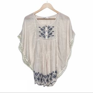 Solitaire By Ravi Khosla Embroidered Blouse Beige
